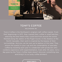 Tony's Coffees & Teas logo