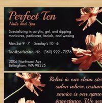 Perfect Ten Nails & Spa logo