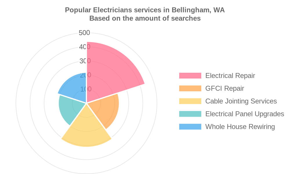Popular services provided by electricians in Bellingham, WA