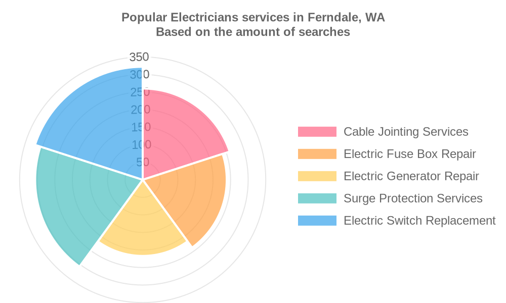 Popular services provided by electricians in Ferndale, WA