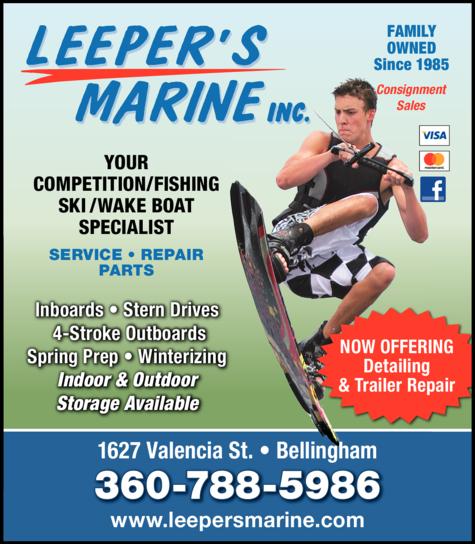 Print Ad of Leeper's Marine Inc