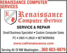 Yellow Pages Ad of Renaissance Computer Services