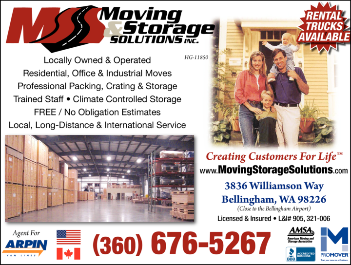 Yellow Pages Ad of Moving & Storage Solutions Inc
