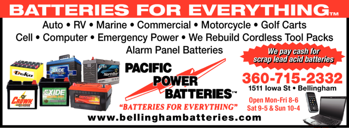 Yellow Pages Ad of Pacific Power Batteries