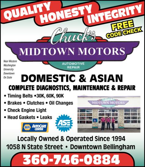 Print Ad of Chuck's Midtown Motors Automotive Repair Inc