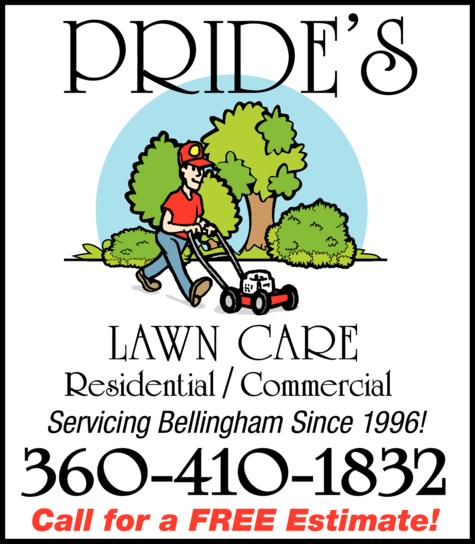 Print Ad of Pride's Lawn Care