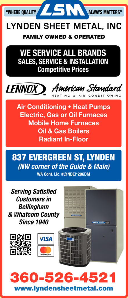 Print Ad of Lynden Sheet Metal Inc