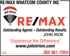 Yellow Pages Ad of Re/Max Whatcom County Inc