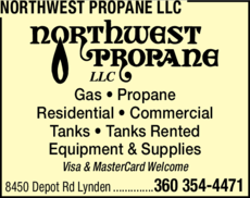 Yellow Pages Ad of Northwest Propane Llc