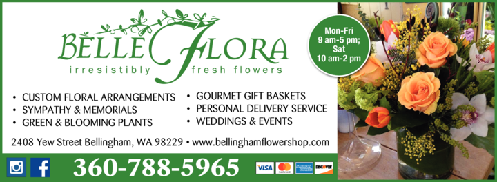 Yellow Pages Ad of Belle Flora