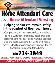 Yellow Pages Ad of Home Attendant Care Inc