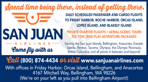 Yellow Pages Ad of San Juan Airlines