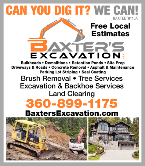 Yellow Pages Ad of Baxter's Excavation Llc
