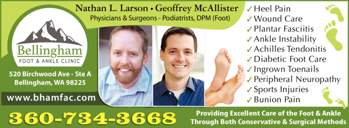Print Ad of Bellingham Foot & Ankle Clinic