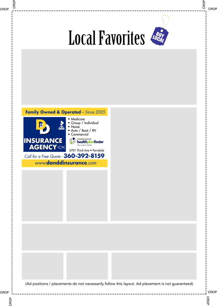 Print Ad of D & D Insurance Agency Inc