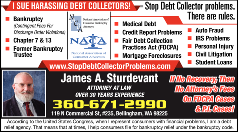 Print Ad of Sturdevant James A Attorney At Law