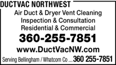 Yellow Pages Ad of Ductvac Northwest