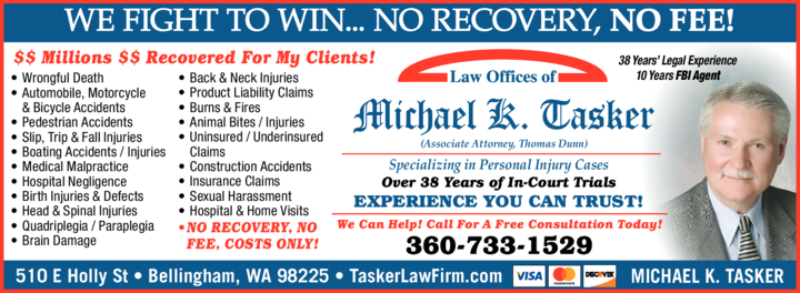 Yellow Pages Ad of Tasker Michael K Atty