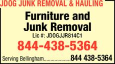 Print Ad of Jdog Junk Removal & Hauling Bellingham