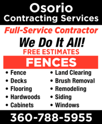 Yellow Pages Ad of Osorio Contracting Services