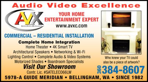 Yellow Pages Ad of Audio Video Excellence