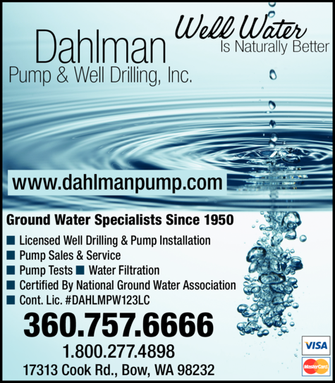 Yellow Pages Ad of Dahlman Pump & Well Drilling Inc