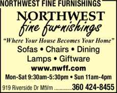 Yellow Pages Ad of Northwest Fine Furnishings Inc