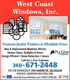 Print Ad of West Coast Windows Inc