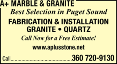 Yellow Pages Ad of A+ Marble & Granite