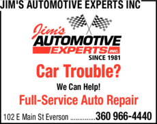 Print Ad of Jim's Automotive Experts Inc