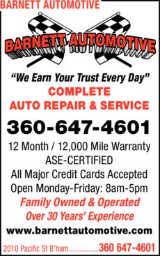 Print Ad of Barnett Automotive