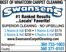 Yellow Pages Ad of Best Of Whatcom Carpet Cleaning