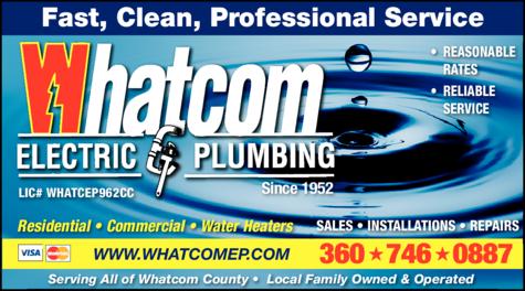 Print Ad of Whatcom Electric & Plumbing