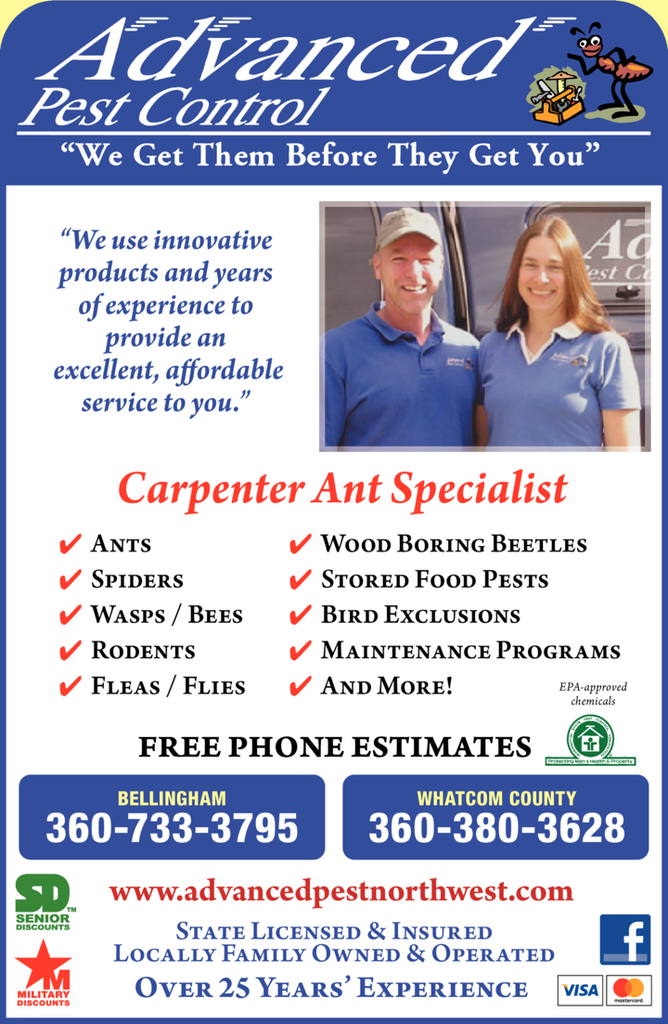 Yellow Pages Ad of Advanced Pest Control